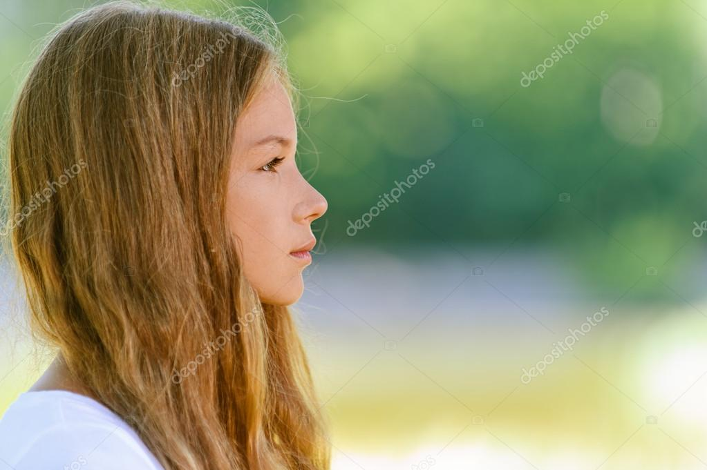 beautiful teenage close up profile