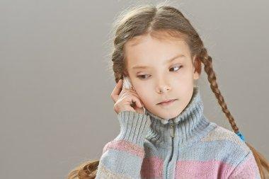 little girl talking on cell phone