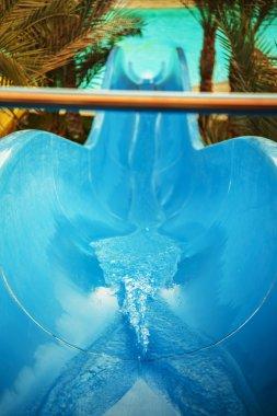 water slide at aquapark