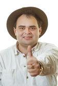 Fotografie muž v klobouku
