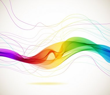 Abstract colorful background with wave, illustration stock vector