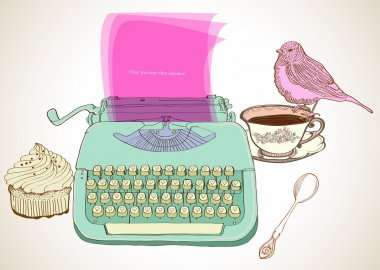 retro typewriter background