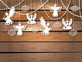 Fényképek Boldog karácsonyi kártya játékok és angyalok
