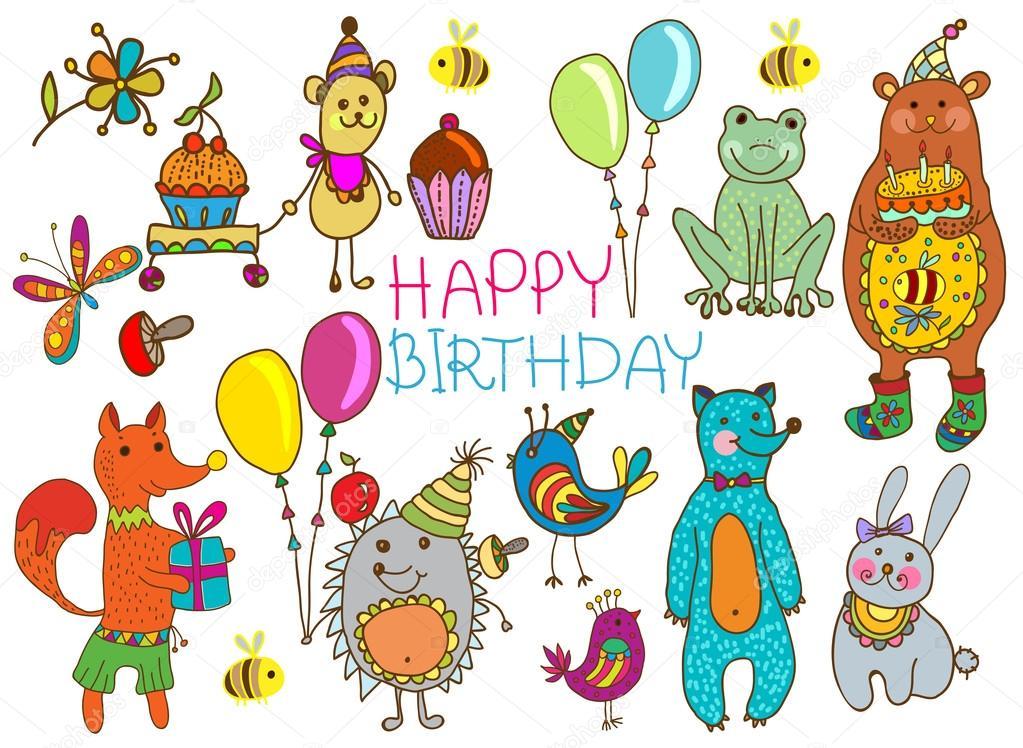 Днем рождения, открытки с днем рождения смешные животные