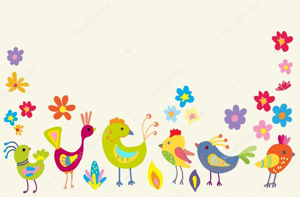 Dibujos: pajaros de colores | pájaros de color de dibujos animados ...