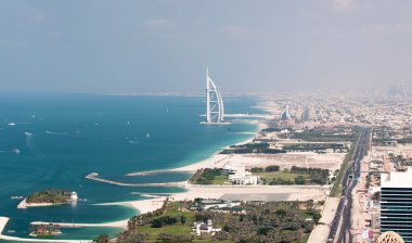 View on Burj Al Arab in Dubai, United Arab Emirates