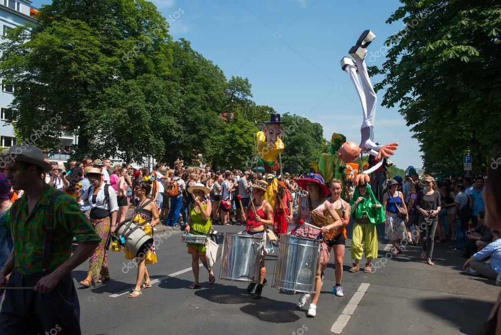 BERLIN - JUNE 08: Participants at the Karneval der Kulturen (Carnival of Cultures), one of the main urban festivals in Berlin stock vector