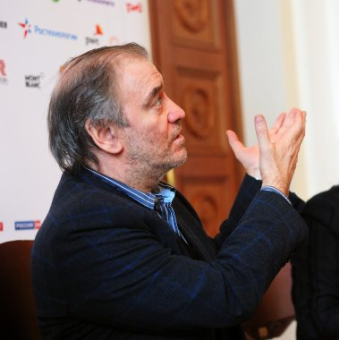 PETROZAVODSK, RUSSIA - APRIL 19: Russian conductor and Moscow ea