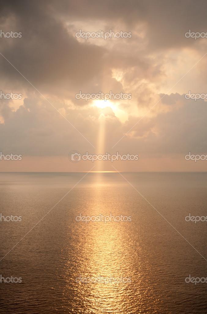 Beautiful landscape of sunrise over the sea.