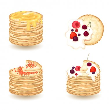 vector set of pancake ,maslenitsa
