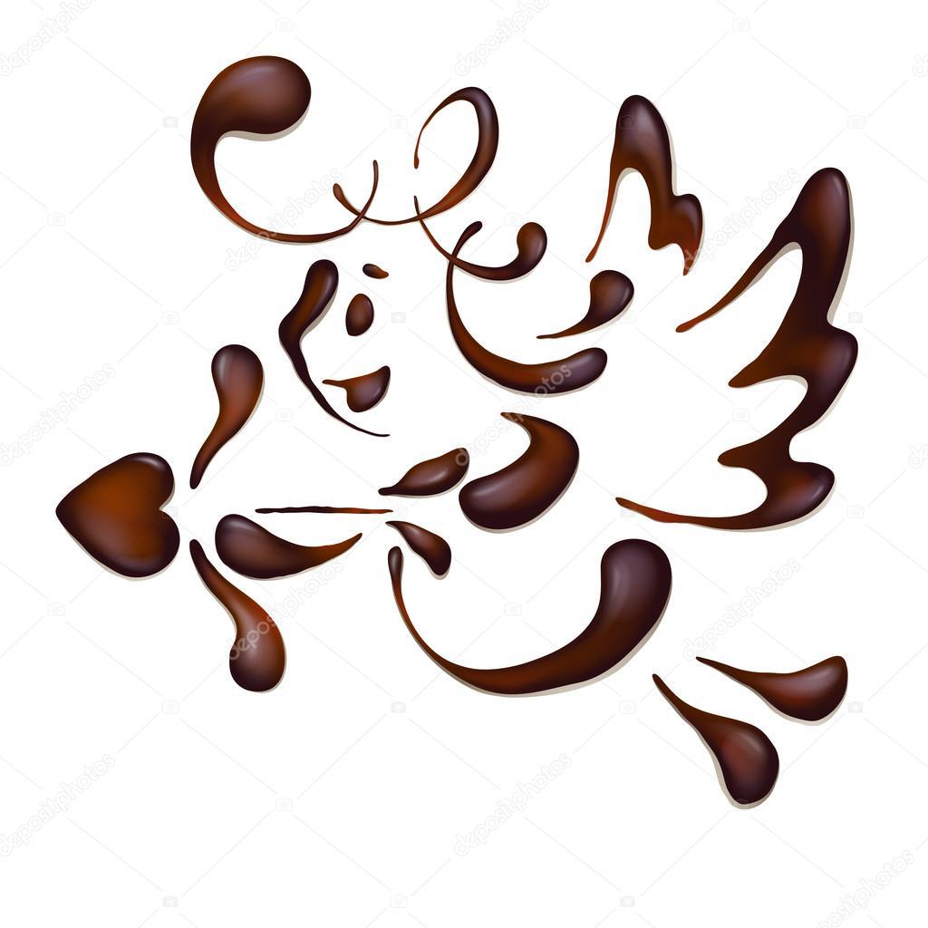 Chocolate angel , vector — Stock Vector © tan_tan #35770247