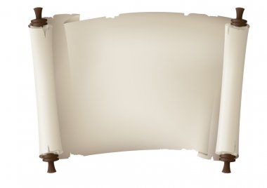 Scroll paper banner