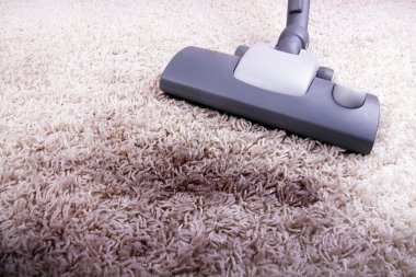 Vacuuming very dirty carpet