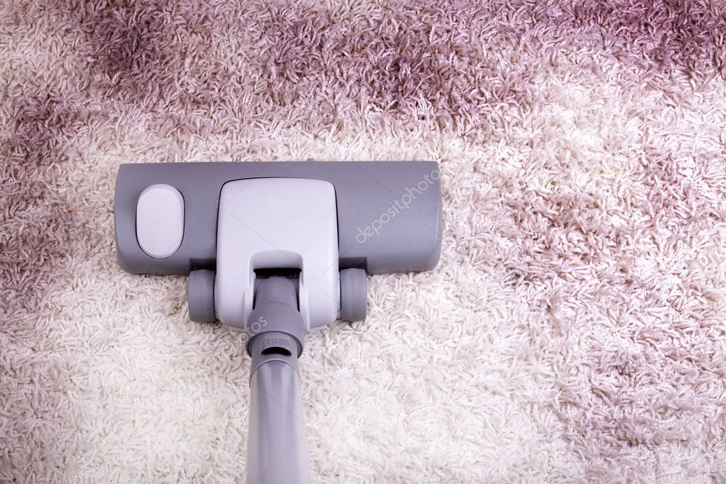 Vacuuming very dirty white carpet