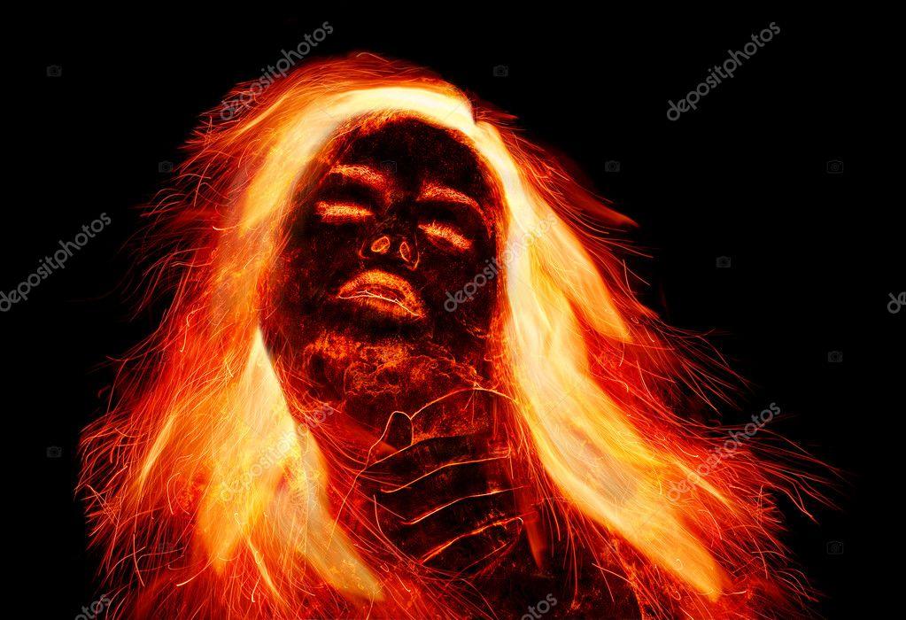 Девушка с огненными волосами — Стоковое фото © rbvrbv ...