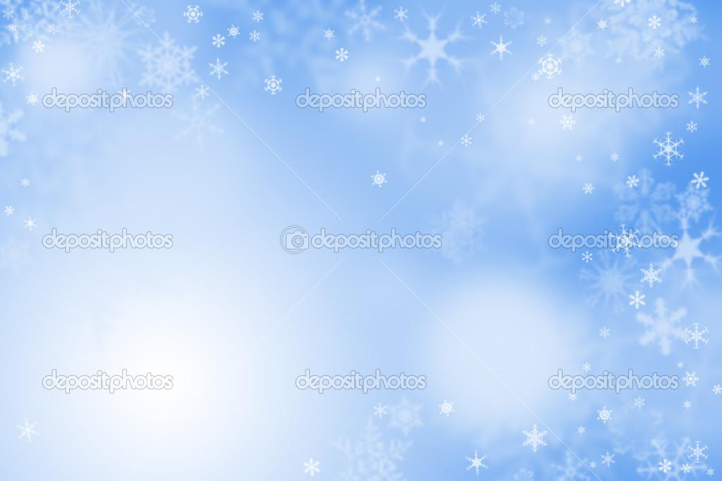 fond d'écran hiver bleu clair — Photographie rbvrbv © #16789405