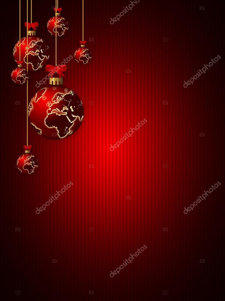 Glazen Kerstballen Over Donkere Achtergrond Stockfoto C Ayo888