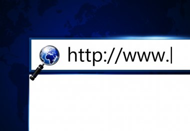 screen with adress bar in web browser