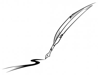 Feather writing