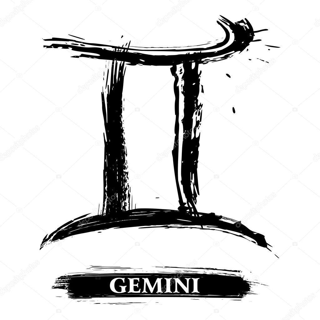 Gemini symbol — Stock Vector © oxygen64 #15717291