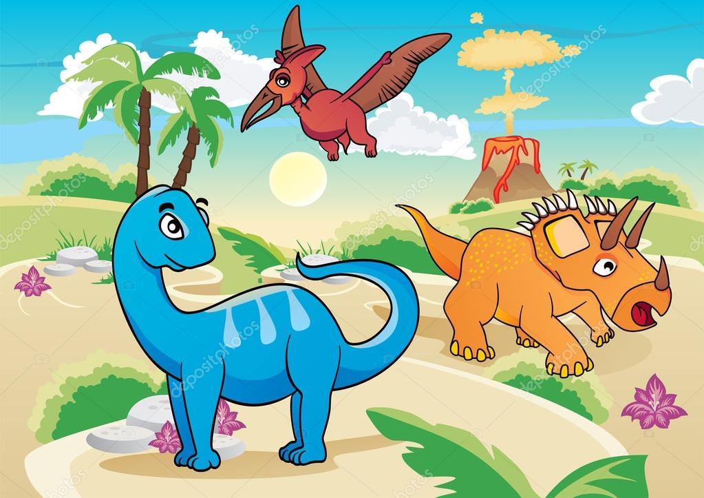 Cartone animato dinosauri u vettoriali stock oxygen