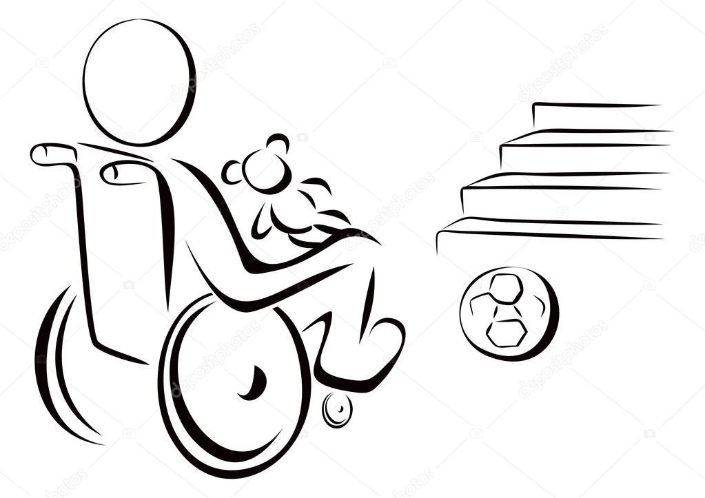 Dibujos Discapacidad Para Colorear Niño Con Discapacidad