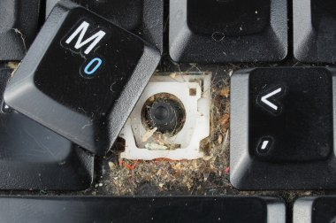 Dirty laptop keyboard