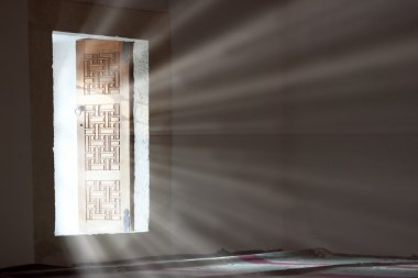 Light entering through open door