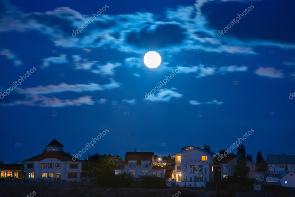 Moon over the town