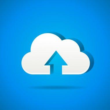 Cloud app icon - upload files