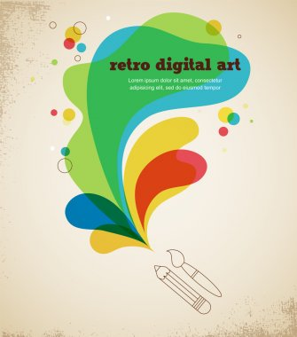 Digital art poster with splash color