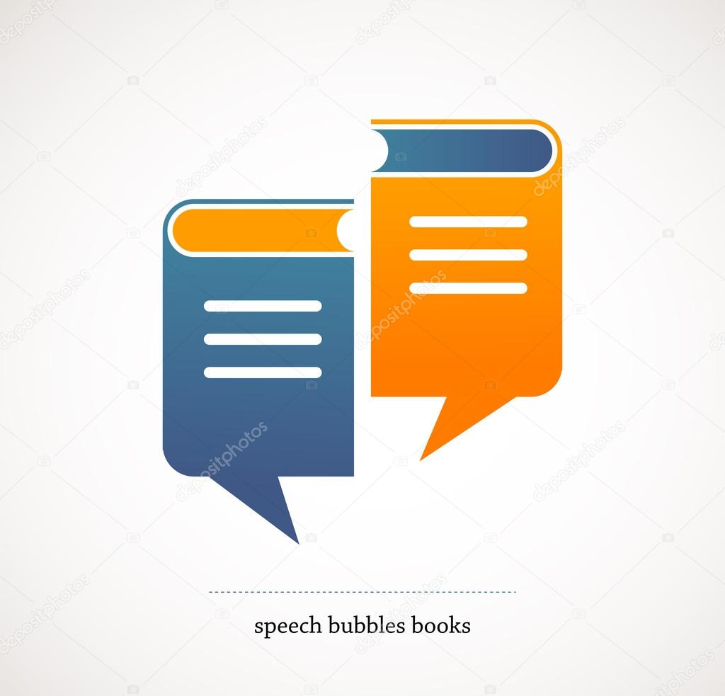 Book talks - vector concept design with speech bubbles