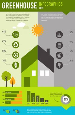 Infographic of ecology and green house, concept design