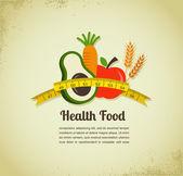 Zdravou výživou vektorové pozadí