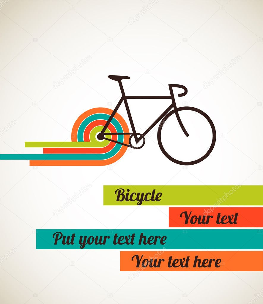 Bicycle vintage style poster