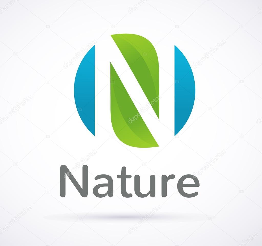 Vector green ecology icon