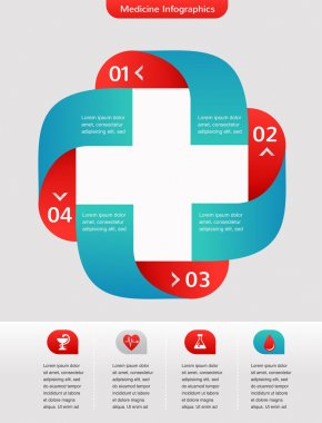 Medical and healthcare background, infographic