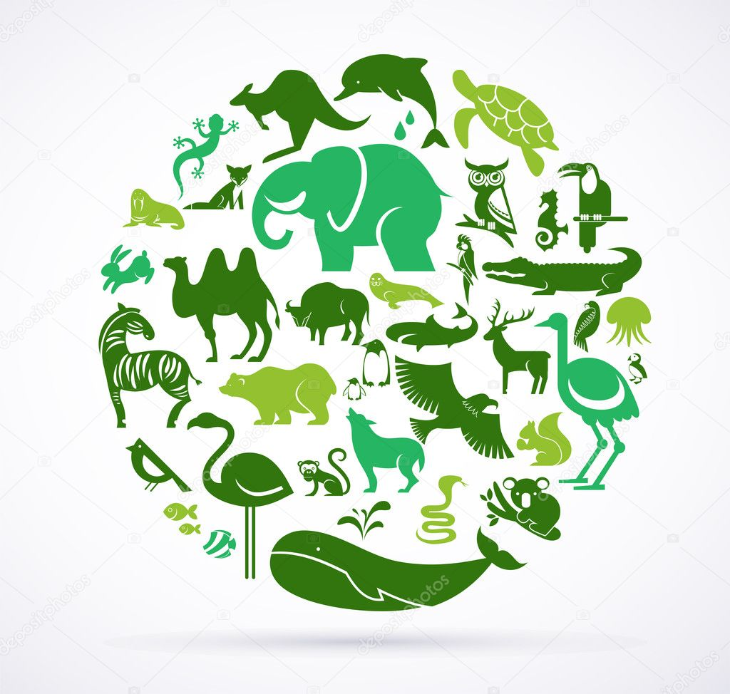 Animal green world - huge collection of icons