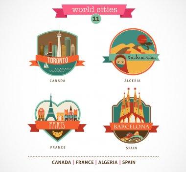 World Places - Paris, Toronto, Barcelona, Sahara