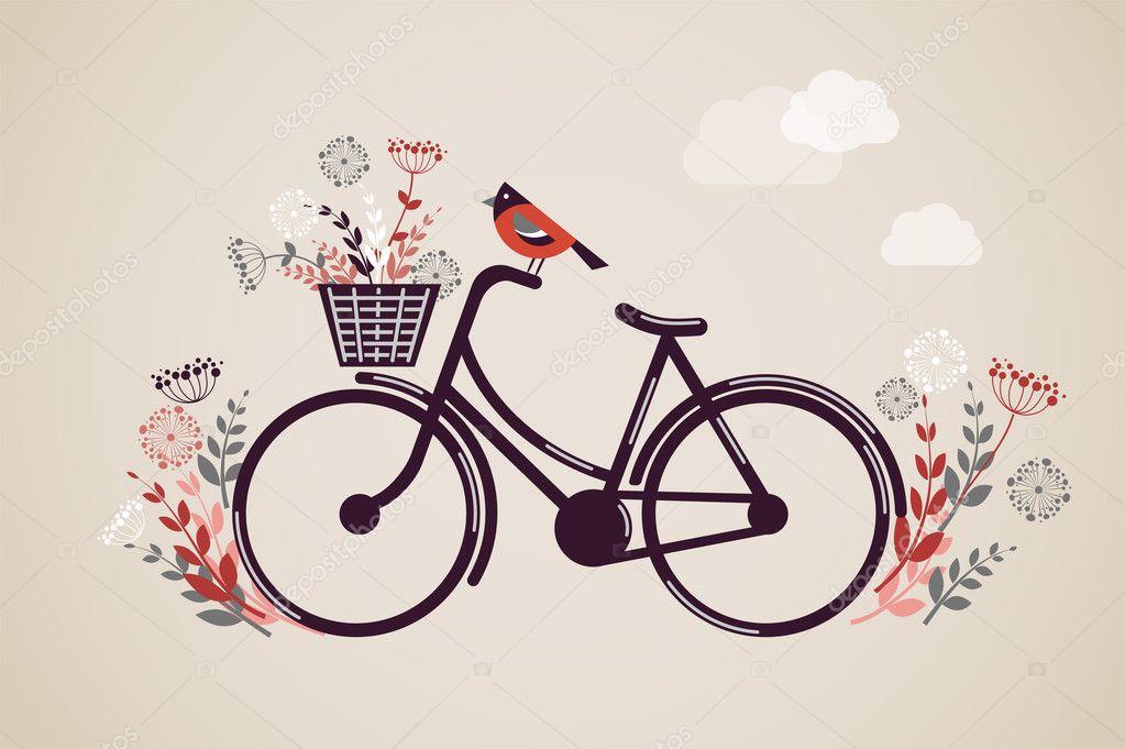 Fondo bicicleta retro vintage — Archivo Imágenes Vectoriales ...