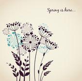 Fotografie jarní pampelišky květiny - vektorový pozadí