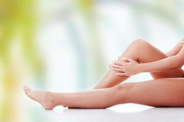 Woman leg.