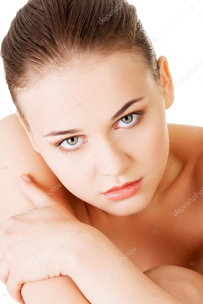 Young naked woman stock image. Image of background