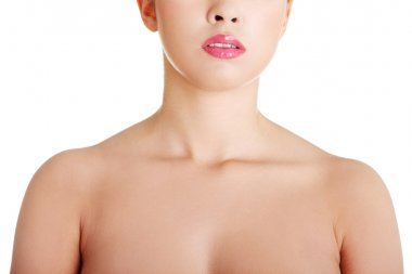 Young woman neck