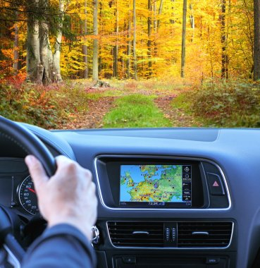 Travel by car with gps