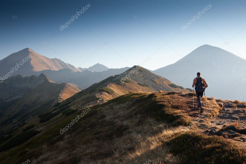 Hiker in Tatra Mountains