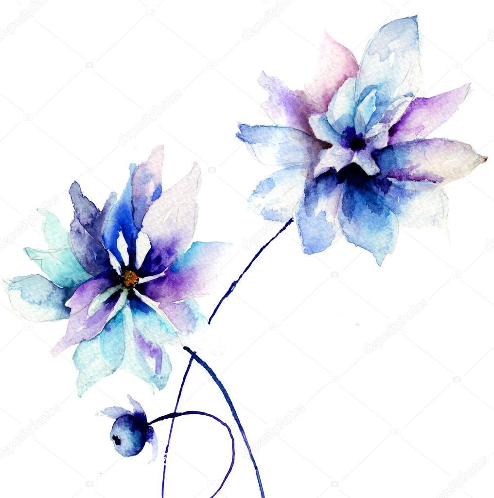 Beautiful blue flowers stock photo jershova 33794391 beautiful blue flowers stock photo izmirmasajfo