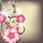 abstraktní vektorová květinové pozadí