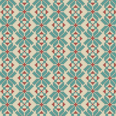 Abstract vector flower ukrainian pattern background