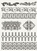 antique design elements and page decoration